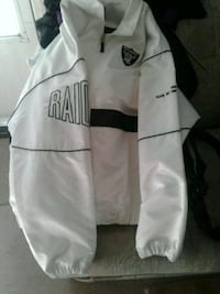 white and black Adidas zip-up jacket Fairfield, 94534