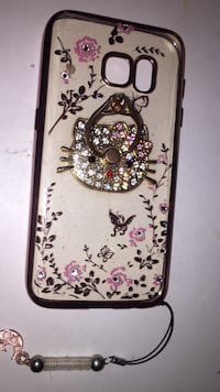 beige and pink Hello Kitty floral smartphone case Jesup, 31545