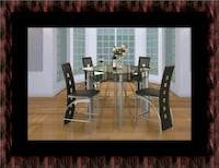 Counter height glass dining table with 4 chairs Greenbelt, 20770