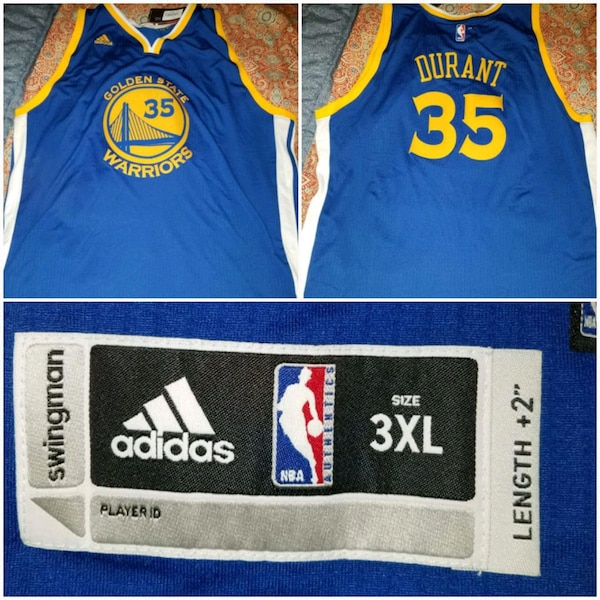 c309186d802 Used Warriors Jersey  35 Durant By Adidas for sale in San Pablo - letgo