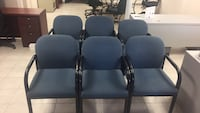 two black metal framed padded armchairs Mississauga, L4W 1P1