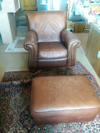 brown leather sofa chair with ottoman Denver, 80236