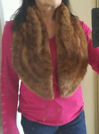 "Price Drop Real Mink Oakville  Fur Collar 48"" x 8"" Oakville vtg brown Oakville, L6L 6R9"