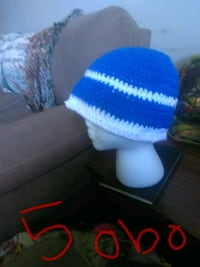 blue and white knit beanie Somerset, 42501