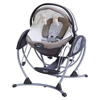 Black and gray & brown graco swing chair