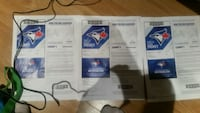 3 Blue Jays Tickets just above dugout  Innisfil, L9S
