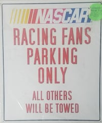 NASCAR metal sign Hagerstown, 21742