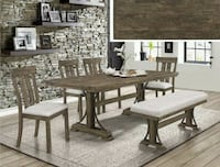 Quincy Rustic Brown Dining Set  2131   Houston