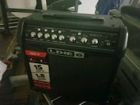 black and red Line 6 guitar amplifier Corona, 92882