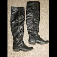 Over the knee high black boots size 8