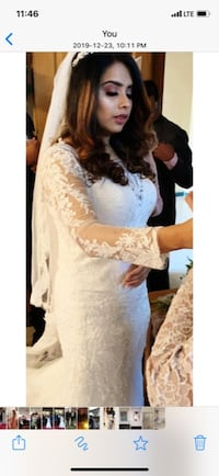Stunning lace wedding dress size 10