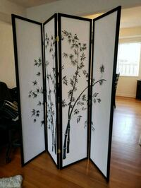 black metal 3-panel room divider Falls Church, 22042