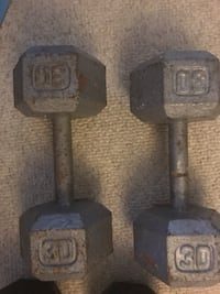 20 and 30 lb pound dumbbell 2 pairs of dumbbells Virginia Beach, 23452