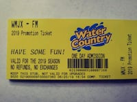 4 TIX. TO WATER COUNTRY Hopedale, 01747
