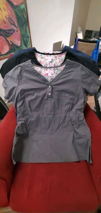 Ladies nursing scrub top $25