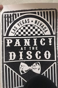 Panic! At the disco signed poster Sterling, 20165
