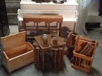 """""""LOT OF WOODEN SMALL FURNISHINGS"""" INCLUDES: ROCKING HORSE, CHEST, WALL CURIO AND MORE !!!!! Wappingers Falls, 12590"""