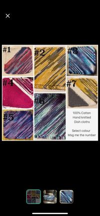 100% Cotton knitted dish cloths