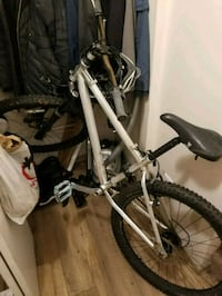 gray and black hard tail mountain bike Victoria, V8Z 3S3