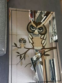 Vintage Beautiful Mama & Baby OWLs Picture Mirror Calgary, T2C 2Z8