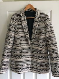 Black and white tribal print cardigan New Westminster, V3M 3X9