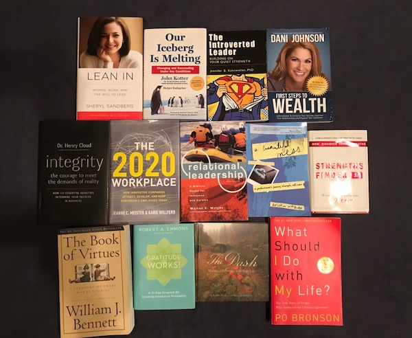 Lot of leadership and self-help books