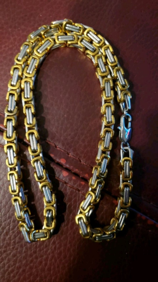 """18K GOLD/SILVER FILLED CHAIN NECKLACES 8MM 24"""" NEW be0d3f90-91b4-4050-9a5e-9cc21a8b23e3"""