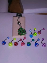 bellybutton rings .50 a pc.for round ones..2.00 for shirt or 5.00 for  Baltimore, 21229
