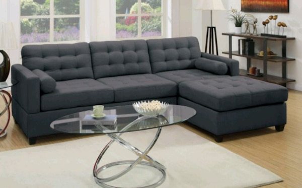 2PC Slate Black Reversible Chaise Sectional 5beeb361-e404-412b-b6ee-af95768bd8b9