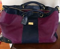 black and purple leather tote bag Frederick, 21702