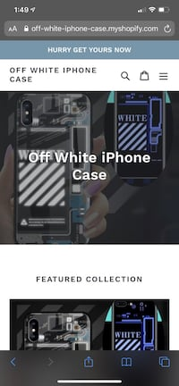 Off white iPhone case Sterling, 20164