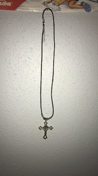 silver chain link necklace with cross pendant San Antonio, 78216