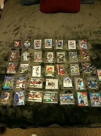 Football cards game-used inserts rookies Snohomish