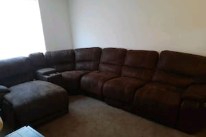 5 piece sectional with 2 reclining