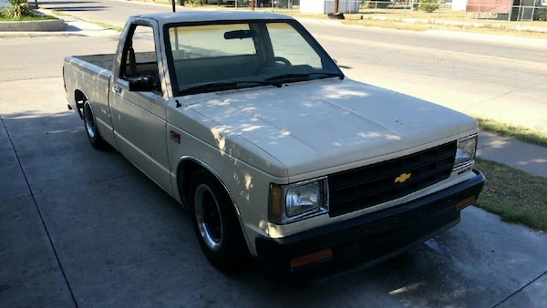 White Chevrolet S 10 Single Cab Pickup Truck
