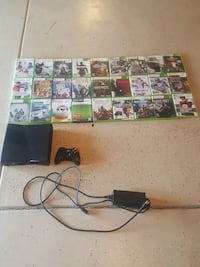 Xbox 360 with cords,controller,and 27 games Loveland