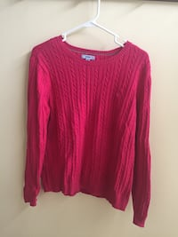 Women's Pink Cable Knit Sweater (IZOD, Size XL) Chantilly, 20152