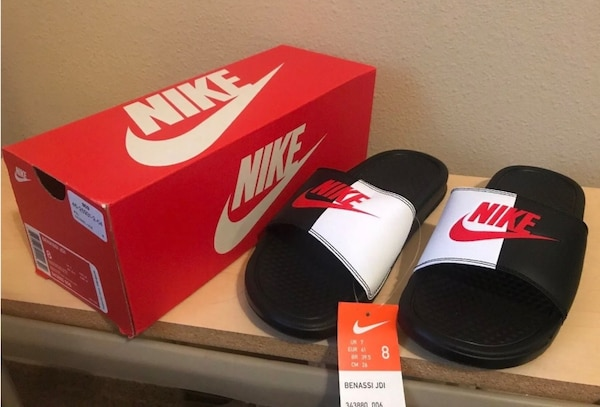 876a4ef74dba Used Pair of black nike slide sandals with box for sale in San Jose ...