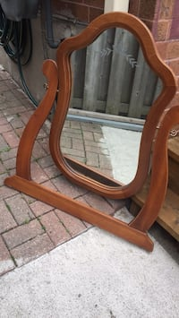 Wood mirror pick up only