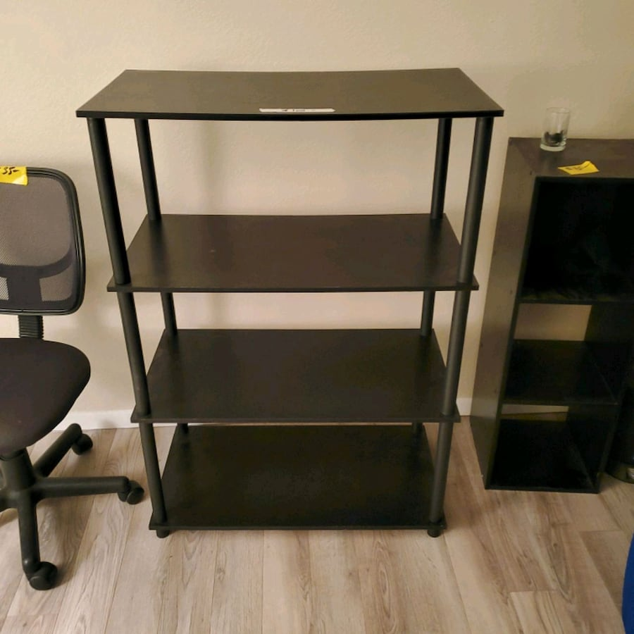 Black 4 shelf