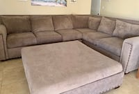 Beautiful large grey sectional couch & ottoman Chandler, 85225