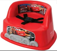 DISNEY PIXAR'S CARS BOOSTER SEAT w/ LITTLE TIKES MUSICAL ACTIVITY TOY!