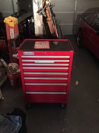 Red rolling tool chest