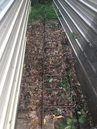 Steel ladder for exterior with curved top asking 45 obo Gainesville, 20137