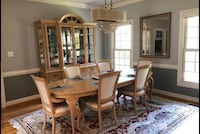 Long wooden table with six chairs. Virginia Beach, 23451