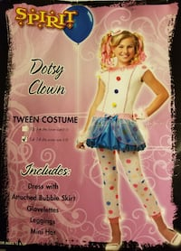 Halloween Dotsy Clown Girl Tween Costume (Size 14-16) Hoboken