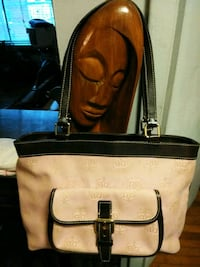 brown and black leather crossbody bag Washington, 20011