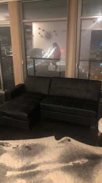 ALL BLACK LEATHER COUCH Toronto, M6S 5B7