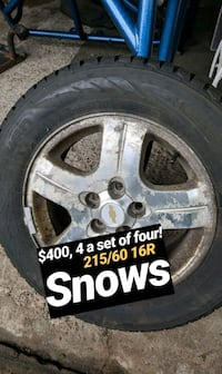 Snow tire and rims for a Chevy  Fairport, 14450