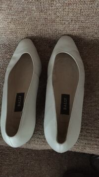 Pair of white Bally leather pumps London, SE28 8ND